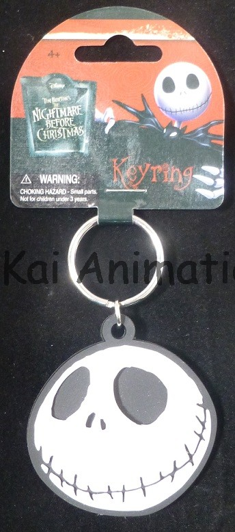 The Nightmare Before Christmas Jack Head Soft Touch Keyring